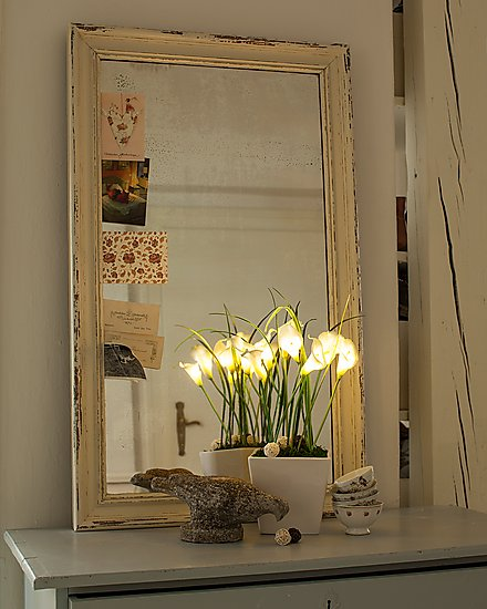 Led callas bouquet keramik topf leuchtende blumen for Leuchtende zimmer deko
