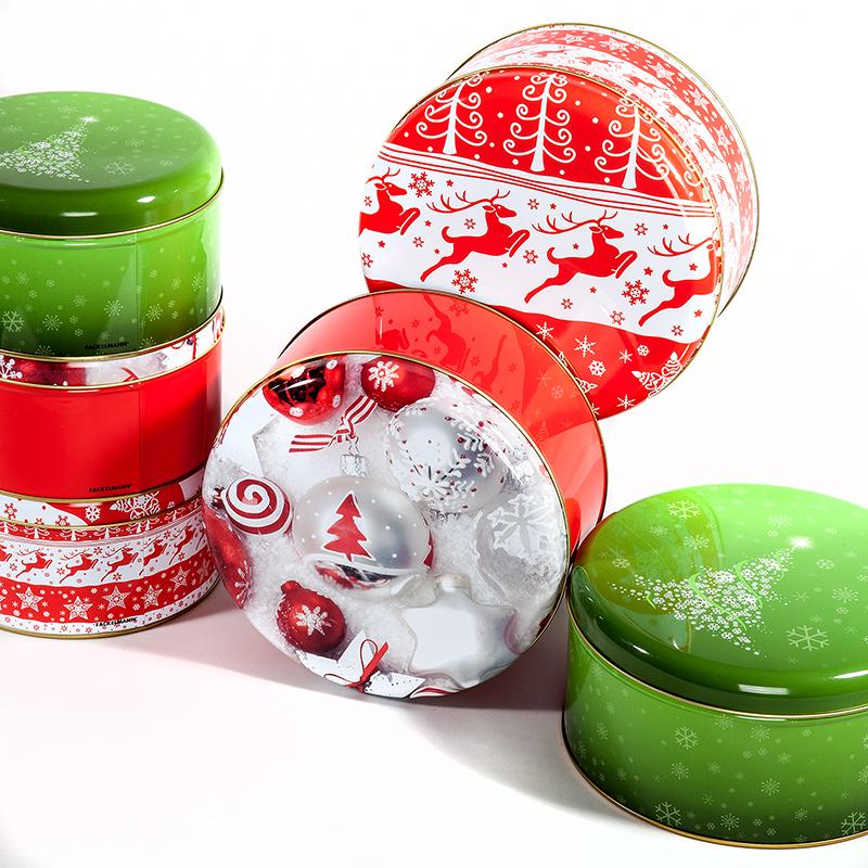 fackelmann keksdosen 2er rot set weihnachten. Black Bedroom Furniture Sets. Home Design Ideas