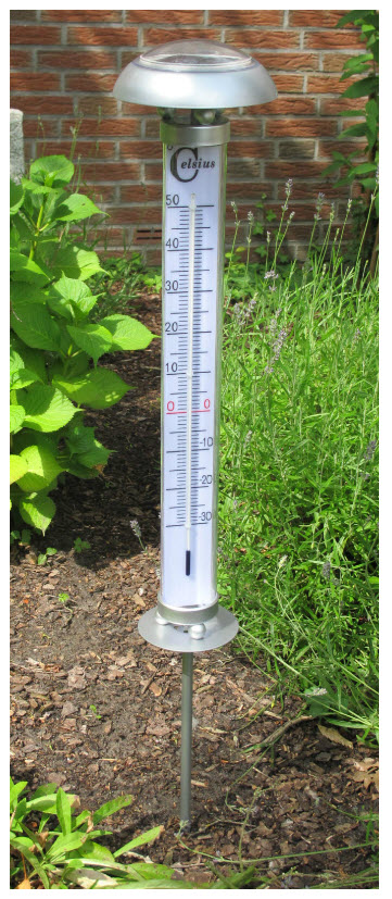 xxl solar gartenthermometer au enthermometer solarleuchte. Black Bedroom Furniture Sets. Home Design Ideas