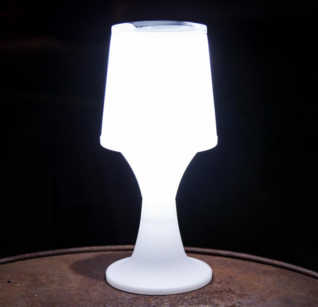 solar led leuchte 27 5 cm h he garten tischlampe tischleuchte au enbeleuchtung ebay. Black Bedroom Furniture Sets. Home Design Ideas