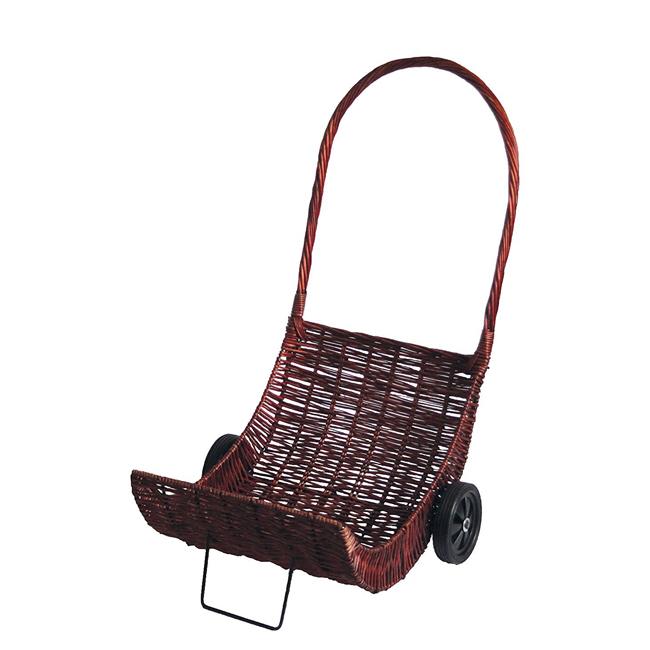 kaminholzwagen aus weide stabile qualit t kaminholz karre wagen holz trolley neu ebay. Black Bedroom Furniture Sets. Home Design Ideas