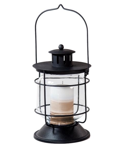 gro e laterne metall glas antik look 23 x 14cm windlicht garten beleuchtung ebay. Black Bedroom Furniture Sets. Home Design Ideas
