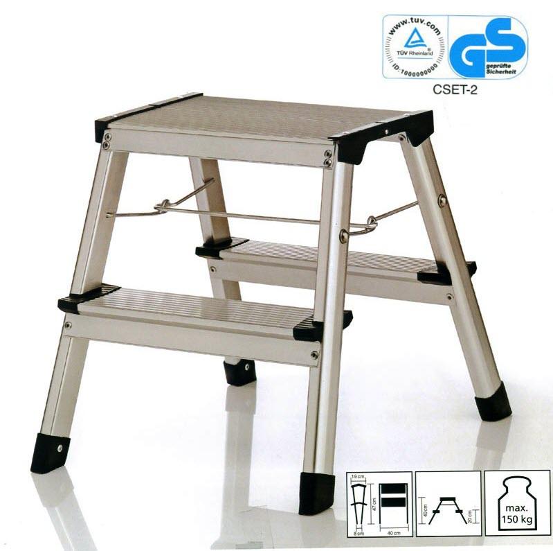 rondale alu klapptritt klapptritt leiter mit alu stufen tritt leiterntritt ebay. Black Bedroom Furniture Sets. Home Design Ideas