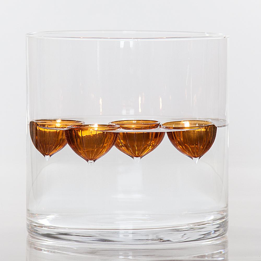 ptmd 4er set glas schwimmschalen f r teelichter. Black Bedroom Furniture Sets. Home Design Ideas