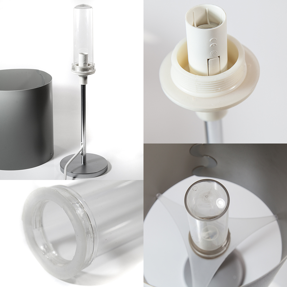 tischleuchte grau 52cm au en innen ip44 wohnmobil lampe. Black Bedroom Furniture Sets. Home Design Ideas
