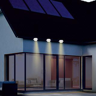 3er Solar Dachrinnenleuchten,Zaunleuchten,Wegeleuchten,3 Power LEDs,Solarleuchte