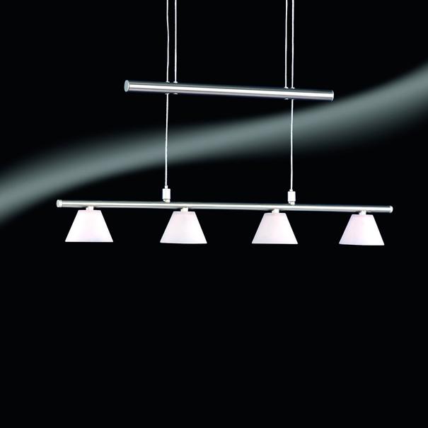 4er action pendelleuchte inkl leuchtmittel edelstahl glas h ngelampe leuchte ebay. Black Bedroom Furniture Sets. Home Design Ideas