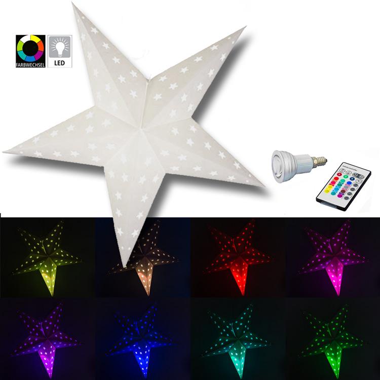 LED Stern mit Farbwechsel 21 cm